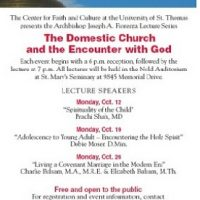 Archbishop Fiorenza Lecture Series: The Domestic Church and the Encounter with God (Mondays)