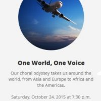CANTARE Houston: One World, One Voice