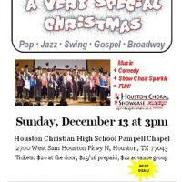 A Very Special Christmas: Houston Choral Showcase 2015 Holiday Show