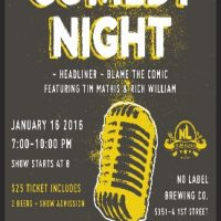 Comedy Night at No Label Brewing Co.