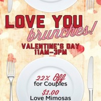 Love You Brunches (Valentine's Day Brunch at Local Pour)