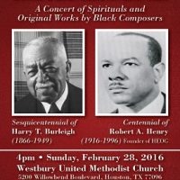 Annual African American Music Gala 2016: A Concert of Works by Black Composers