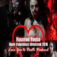 Houston Terror Dome I Love You to Death Haunted House Valentine's Weekend