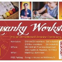 Traditional Ukrainian Easter Egg Decorating Workshop