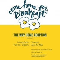 Breakfast with The Way Home Adoption, Inc.