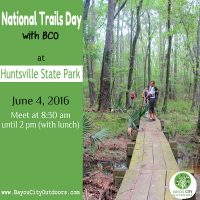 National Trails Day at Huntsville State Park with BCO