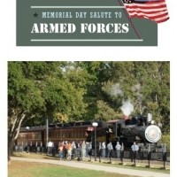Texas State Railroad 18th Annual Memorial Day Salute to the Armed Forces