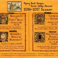 The Piping Rock Singers: Monuments of Early Music