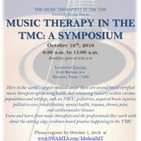 Music Therapy in the Texas Medical Center: A Symposium