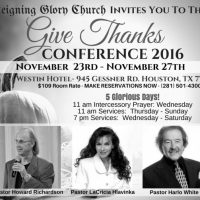 Give Thanks Conference 2016