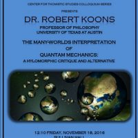 The CTS Colloquium Series: Dr. Robert Koons