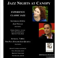 Paul English Presents: Jazz Nights at Canopy (Weekends)