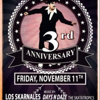 Eastdown Warehouse 3rd Year Anniversary with Los Skarnales & more!