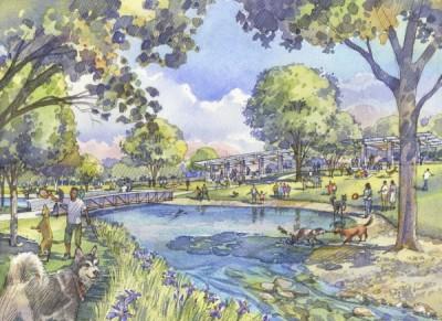 Buffalo Bayou Park - Johnny Steele Dog Park